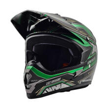 Cargloss MXC Motosport Helm Full Face - Green Deep Black