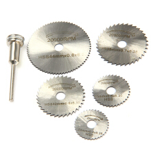 WLXY 6PCS HSS Saw Blades Cutting Discs with Mandrel Set