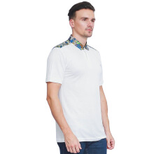 ALINSKIE BROTHERS Bamboo Mens Polo Shirt Azura A1016 - White