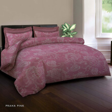 KING RABBIT Bed Cover Single Motif Praha Pink/ 140x230 cm