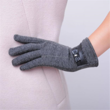 BESSKY Fashion Women Bowknot Winter Warm Gloves Mittens-