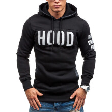 BESSKY Men Winter Slim Hoodie Warm Pullover Sweatshirt Hooded Coat Outwear Tops_