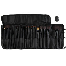 24Pcs Cosmetic Brush Foundation Powder Eyeshadow Brushes Set Professional Black