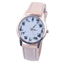 BESSKY Leather Band Analog Quartz Vogue Wrist Watches -