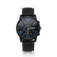 Men Woman Analog Rubber Stainless Steel Hours Quartz Good Sport Watch