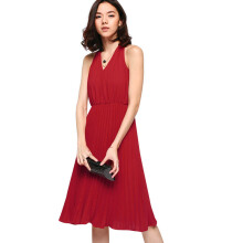 LOVE, BONITO Jacenia Pleated Midi Dress HY3283-020 - Red