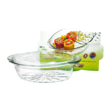 SIMAX Cookware Glass Oval Casserole 3.5L With Lid / Mangkuk Oven - 7406/7416/P
