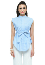 LOOKBOUTIQUESTORE Wella Top - Baby Blue