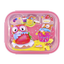 EDISON Stainless Lunch Box with Pouch Pink