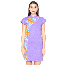 FBW Shanghai Cap Sleeves Batik Dress - Ungu