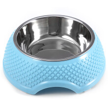Fashion Stainless Steel Detachable Dog Cat Puppy Pet Bowl