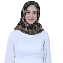 Luire Hijab Sateen 1018HG - Black [ALL SZIE]