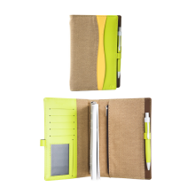 NUDESIGN Agenda with Pen + inside sheet AWV-A01M - Green / 21x3x15cm