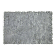 GLERRY HOME DÉCOR Square Grey Fur Rug - 150x200Cm