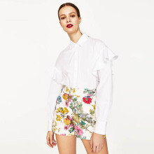 ZARA Floral Shorts - Peach