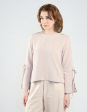 Rianty Basic Atasan Wanita Blouse Ariana -  Brown Light Brown All Size