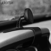 JEREFISH Car Phone Holder Universal Cradle Dashboard Phone Mount Dashboard Magnetic 360° Adjustable Holder for Safe Driving Black