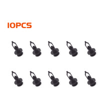 PAO MOTORING Plastic Rivets Fastener Push Clips Mud Flaps Bumper Push For Car Auto Fender 9 mm Hole Pack of 10 PCS Durable