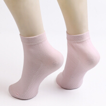 Soothing Massage Bottom Design Plain Ankle Socks