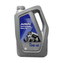 AISIN Semi Synthetic Motor Oil 10W-40 API SN - Oli Mobil Bensin 4 Liter