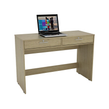 PRISSILIA Calibrate Desk 2 Drawers - Oak 110 x 47 x 75 cm