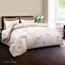 KING RABBIT Bed Cover Single Motif Savon Peach/ 140x230 cm