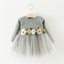 BESSKY Cute Toddler Baby Girl Floral Tutu Long Sleeve Princess Dress_