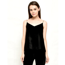 LOOKBOUTIQUESTORE Velvet Tank - Black