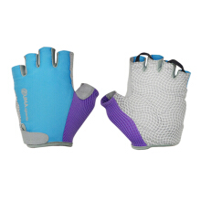 Zuna Sport Ladies White Spidey Cycling Gloves Half Finger