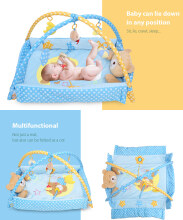 Baby Soft Play Mat Bear Folding Gym Blanket-Blue