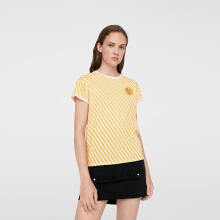 MANGO Patch Printed T-shirt - Yellow