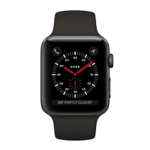 APPLE Watch Series 3 MR352 38mm GPS Only Space Gray Aluminum Case with Gray Sport Band