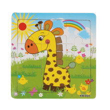 BESSKY Wooden Giraffe Jigsaw Toys For Kids Education And Learning Puzzles Toys - Yellow