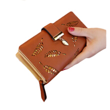 Aamour Leaf Wallet - Brown