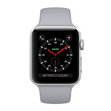 APPLE Watch Series 3 42mm MQL02 GPS Only Silver Aluminum Case with Fog Sport Band