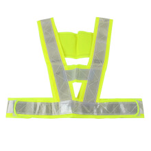 PAO MOTORING Night Work Warning Reflective Vest Security Safety Gear Stripes Jacket High Visibility [ Light Red/Yellow 5pcs ]