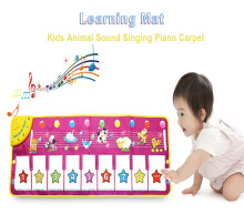 Kids Animal Sound Singing Piano Educational Musical Play Mat Toy