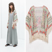 Womens Summer Blouse Sexy Floral Shirt Loose Kimono Cardigan Casual Tops