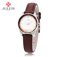 Julius JA - 723 Female Quartz Watch Slender Band Spot Scale Small Dial Stereo Cut Mirror 3ATM Wristwatch