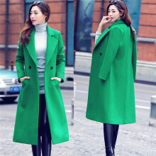 BESSKY Womens Fashion Autumn Winter Long Woolen Coat Overcoat Parka Outwear Cardigan _