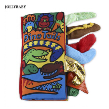 JOLLYBABY 10 Pages Funny Cartoon Animal Character Educational Cloth Book-DINO TAILS