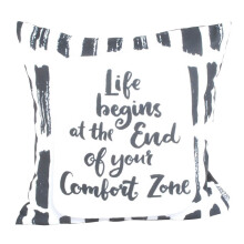 GLERRY HOME DECOR Life Begins Cushion Cover - 40x40Cm
