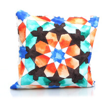 VIVERE Cushion Cover Morrocan Glow - Orange & Black / 45X45cm