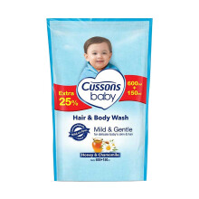 CUSSONS BABY Head to Toe Mild & Gentle Pouch 600 ml + 150 ml