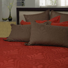 SERTA Bedlinen Kenly Lobster 180x200 + 2 Pillow Sham - Lobster Orange