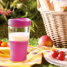 LUMINARC Gelas Transportable Jar + Lid J9991 500 ml - Pink
