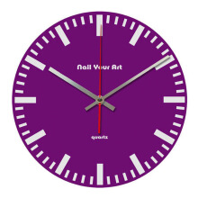 NAIL YOUR ART Simply Purple Wall Clock/30x30Cm
