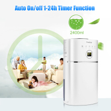 Finether 1.1L/D Digital Air Dehumidifier Anion UV Air Purify Portable Lightweight Low Energy Home Wardrobe Bathroom Kitchen Damp Moisture EU