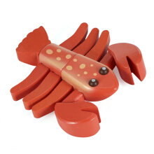 Magnetic Lobster Shape Simulation Wooden Sliced Toy