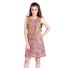 Rianty Batik Dress Wanita Sabila - Red